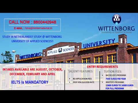 Study in Netherlands !! Study @ Wittenborg University of Applied Science !!