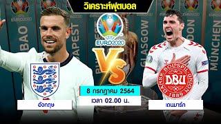 วิเคราะห์บอล ยูโร 2020  รอบรองชนะเลิศ   อังกฤษ พบ เดนมาร์ก