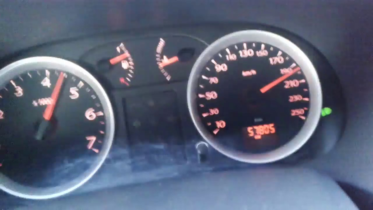 renault symbol 1.5 dci 85 hp thalia 2011 hız testi top speed