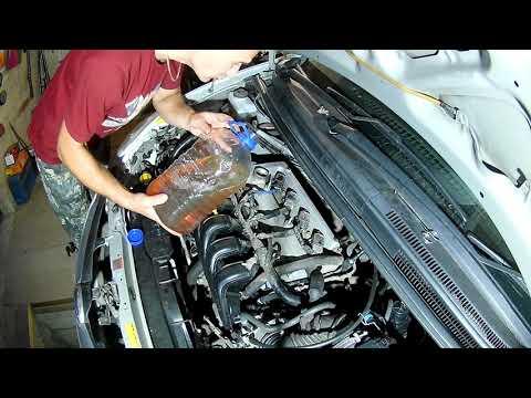 Промывка двигателя соляркой (поэтапно)