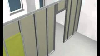 ff Montaža pregradnog zida sa otvorom za vrata Nordgips