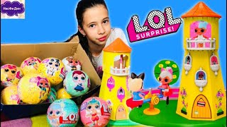 ДОМИК для кукол ЛОЛ или House for LOL DOLLS / НасФи Дин