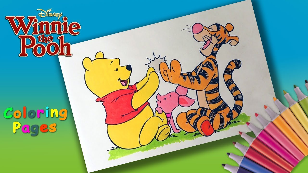 Tigger Hugged Piglet Coloring page | Cartoon coloring pages ... | 720x1280
