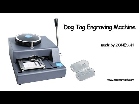 How to use the dog tag engraving machine embossing machine
