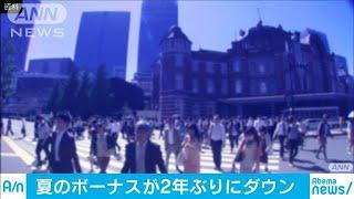 大企業の夏のボーナス2年ぶり減少 ベア優先で(19/08/03)