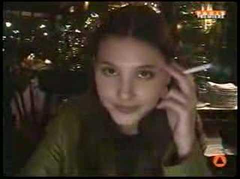 Virginie Ledoyen smoking