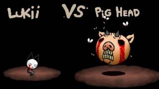 Isaac Afterbirth Plus - Lukii vs Pig Head (Reskin Mod)