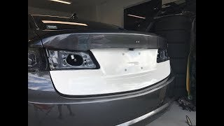 TIMELAPSE: Vinyl Wrapping Lower Trunk