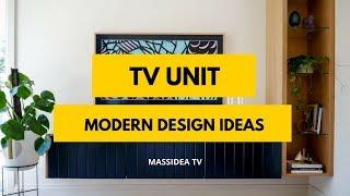 35+ Cool Modern TV Unit Designs for Living Room
