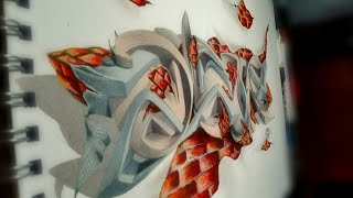 "graffiti en 3D 2018 ""Ackstar"""