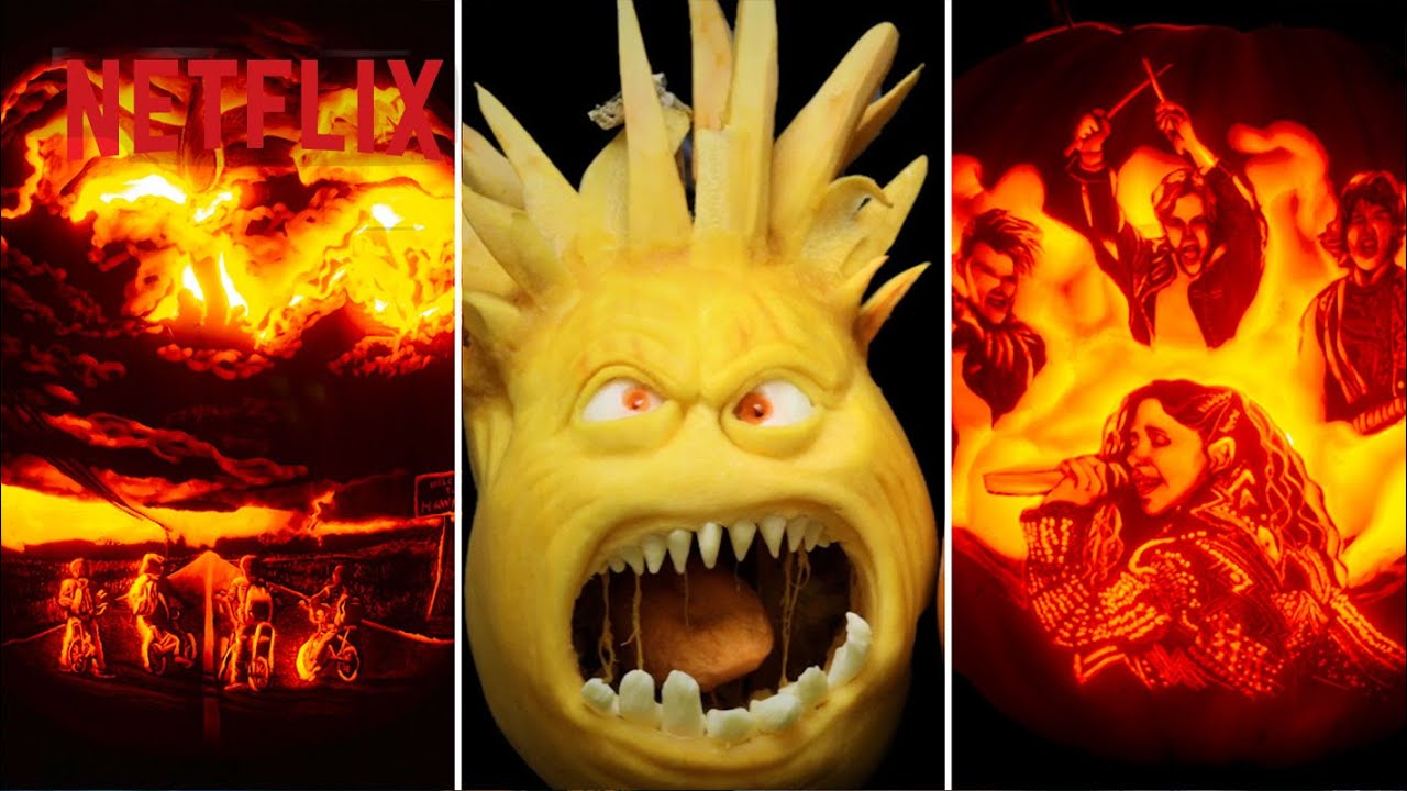 A Stranger Things Pumpkin!? 🎃 The Ultimate Pumpkin Carving Compilation | Netflix Futures