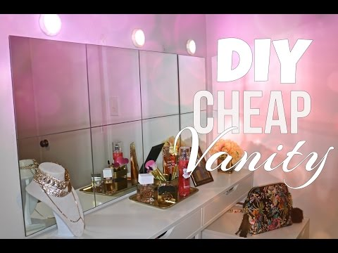 HOW I DIY MY VANITY + Vanity Mirror With Lights ( EASY & AFFORDABLE)