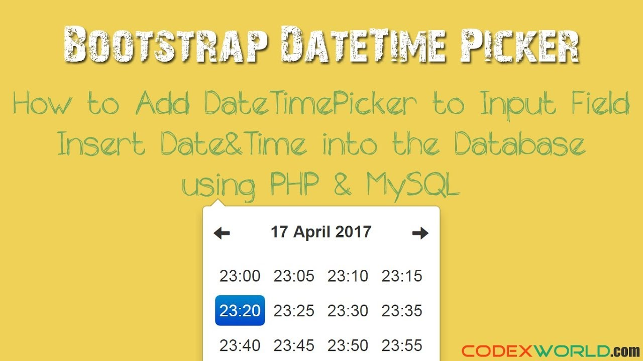Bootstrap Datetimepicker - Add DateTime Picker to Input Field using