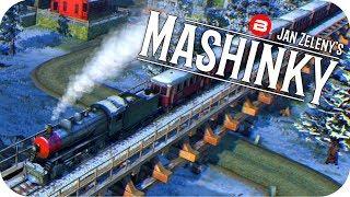 MASHINKY Gameplay - SIGNAL WORK & IRON FOUNDRY - Tycoon Trains Simulator/Railroad Tycoon #2