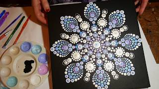 How to paint dot mandalas with Kristin Uhrig-#29  Snowflake