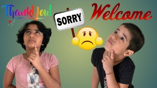 Sorry Sorry ,Thank you Thank you l A manners story l मैं सॉरी नही बोलूंगी l Ria and Jini Show