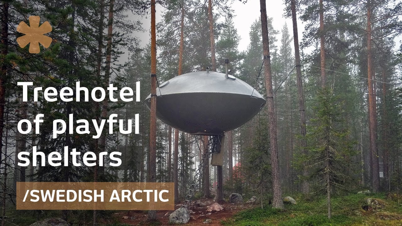 Treehotel Mirrorcube Nest Ufo Treehouses In Arctic Forest