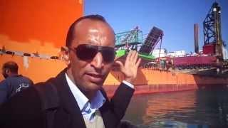 قناة السويس الجديدة مصر: هانى عبد الرحمن يرصد وصول أكبر ناقل بحرى فى العالم