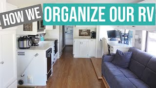 RV ORGANIZING TIPS - See How We Organize Our RV 🚌 RV Tour of How to Organize an RV for More Storage