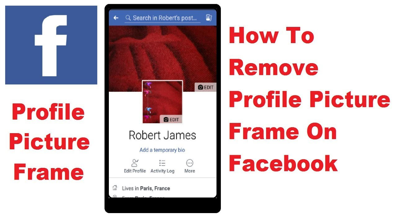 How To Remove Profile Picture Frame On Facebook - YouTube