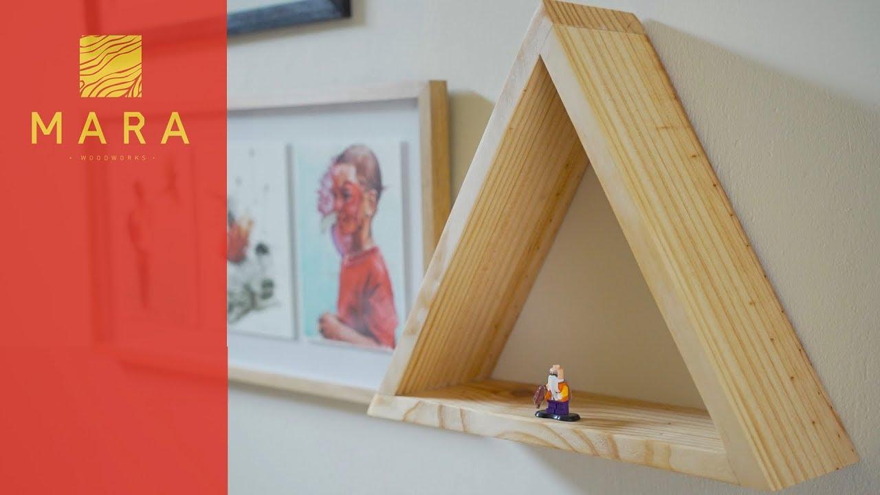 C mo hacer una repisa triangular mara 2 youtube - Como hacer repisas de madera ...