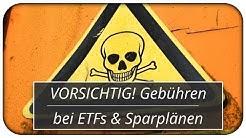 VORSICHTIG! Gebühren bei ETFs und Sparplänen ☠️