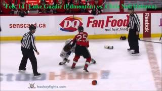 Top Ten NHL Hockey Fights of February 2015