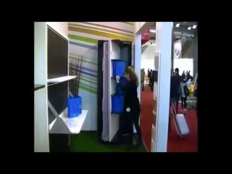 Letto singolo a scomparsa verticale con libreria girevole - Letto singolo con sottoletto a scomparsa ...