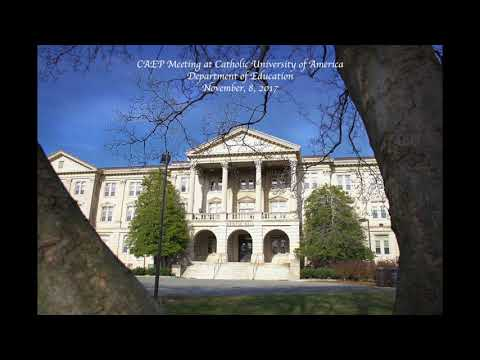 CAEP Meeting at Catholic University Department of Education November 8, 2017