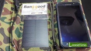 Портативна сонячна батарея, панель 7w,1290mah 5.5 v