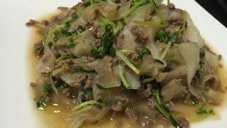 味付け簡単!合い挽き肉と大根のポン酢炒めのレシピ、作り方