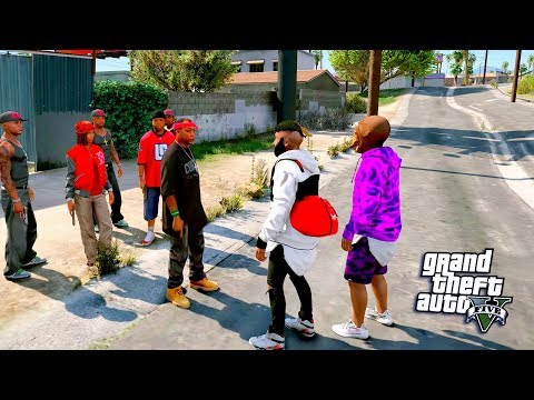 GTA 5 REAL LIFE MOD #28 JOINING THE BLOODS! (GTA 5 REAL LIFE MOD)