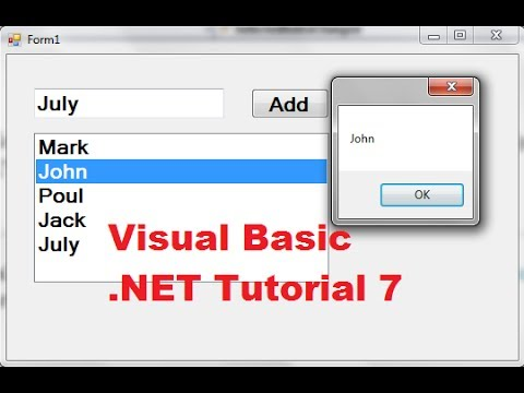 Visual Basic NET Tutorial 7 How To Use A Listbox In VB NET