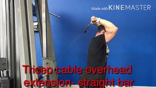 Tricep overhead cable extension