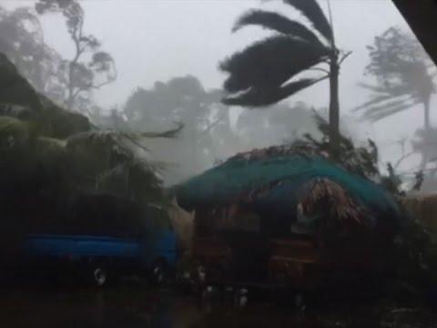 Raw: Typhoon Haima Slams Into Philippines