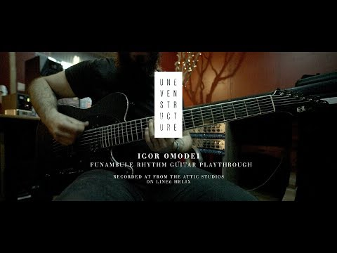 Uneven Structure - Funambule - Guitar Playthrough On Line6 Helix