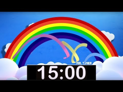 Rainbow Timer 15 Minutes! Countdown Timer with Music for Kids!