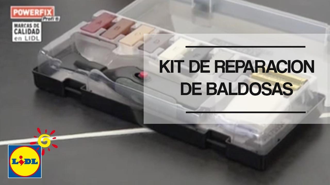 Kit de reparaci n de baldosas lidl espa a youtube - Baldosas para terraza ...