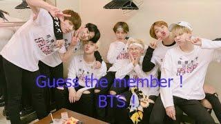 BTS Guess the member Quiz