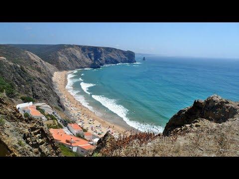 Praia da Arrifana em Aljezur no Algarve (Portugal)
