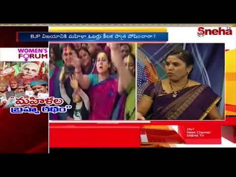 Women Vote Bank Helped BJP in Gujarat Elections | Women's Forum | Sneha TV Telugu