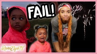 EPIC FIREWORKS FAIL! | MOM VLOG