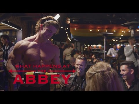 "Brandi Glanville Gets Handsy at ""The Abbey"" 