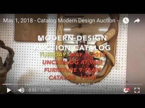 May 1, 2018 - Catalog Modern Design Auction -