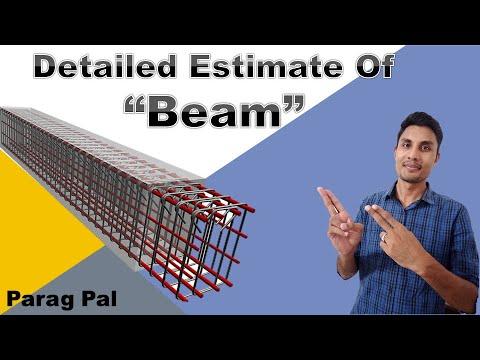 Detailed Estimate of beam