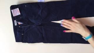 видео Вельветовые брюки