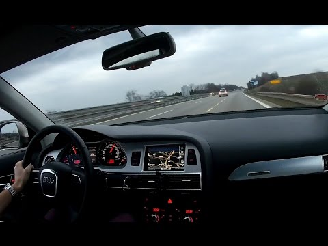 Long evening motorway drive - Audi A6 3.0 TDI
