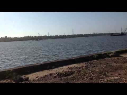 Waterfront land for sale at Aroor near kochi