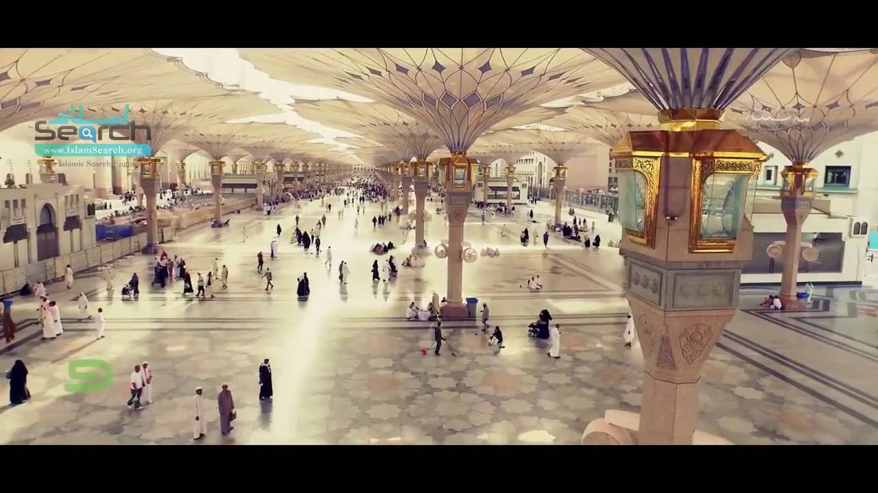 Arial View Of Madinah City Close Up Of Masjid E Nabwi Islamsearch Org Youtube