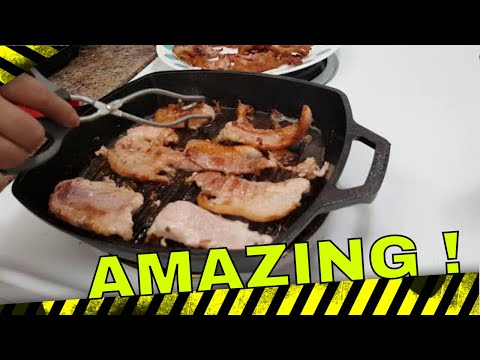 10.5 INCH SQUARE CAST IRON GRILL PAN #castiron #squarecast #grill